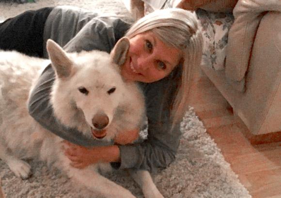 Dr. Lukacs her dog Lia.