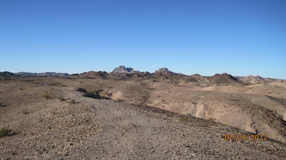 Looking West: Picacho is named for the high mountain peak on the horizon.