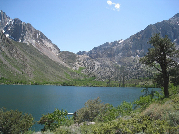 Convict Lake, with Convict Canyon beyond.
