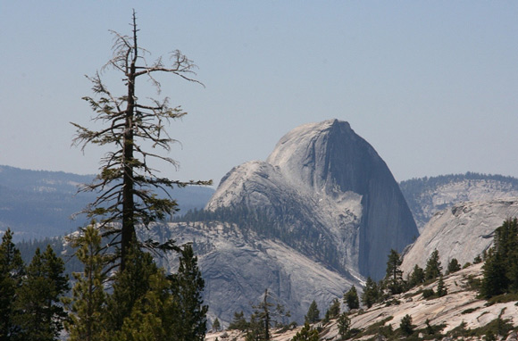 Looking South and West toward Half Dome.
