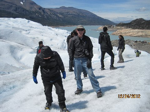 On top of Perito Moreno Glacier.