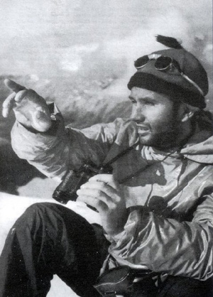 Mountain climber Lionel Terray on Fitz Roy in 1952.