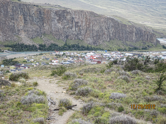 "The town of El Chalten, ""The trekking capital of Argentina."""