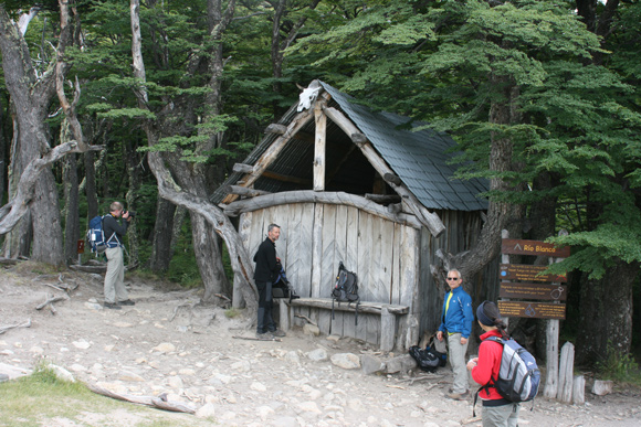 Climbers' hut near the base of Mt. Fitz Roy.