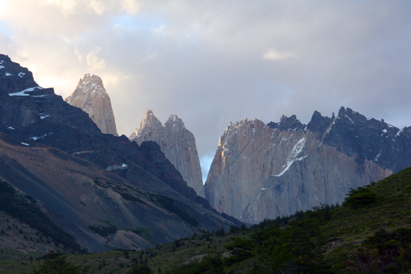 Towers of Paine from the campground.
