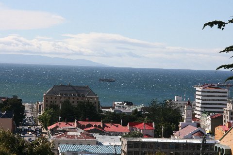 Straits of Magellan from Punta Arenas.