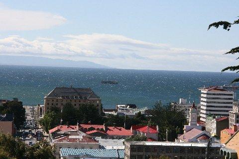Straits of Magellan from Punta Arenas.
