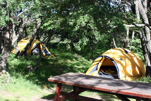 Our tent in the Paine National Park.
