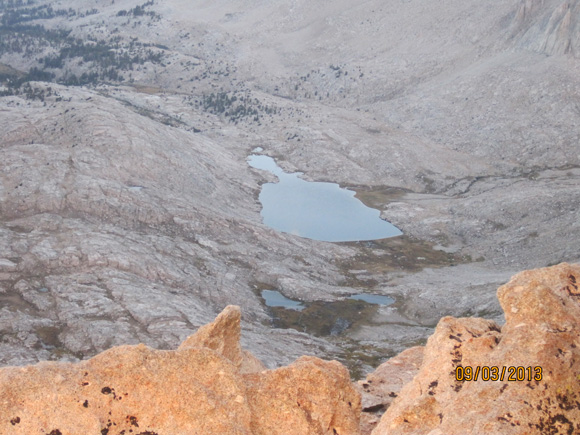 Guitar Lake from Trail Crest.