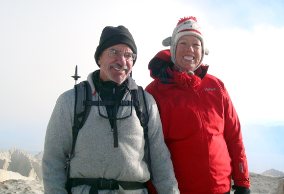 William and Andrea Halligan on Mt. Whitney.