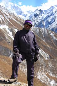 Hari Pudasaini in the Himalayas.