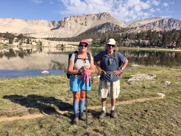 Andrea and William Halligan in the High Sierras.
