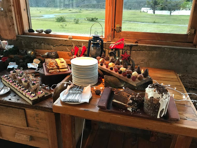 Christmas buffet in Patagonia.