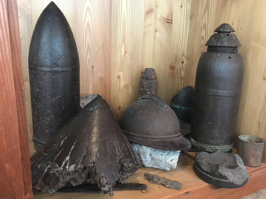 WWI munitions found on or around Mt. Lagazuoi.